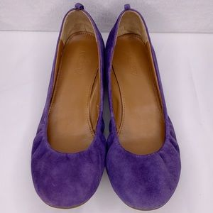 J. Crew Purple Cece Ballet Flats Slip On
